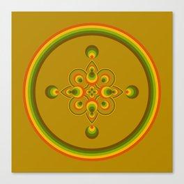 70s Circle Designs - Orange, Brown, Green Canvas Print