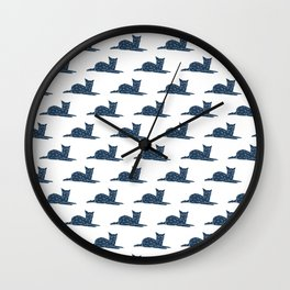 Faceted Cat patterns Wall Clock