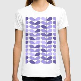 Leaf Design Lavender Ultraviolet T-shirt