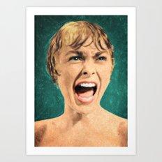 Psycho Shower Scene Art Print