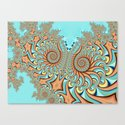 Owl Fractal Turquoise and Orange by moodymuse