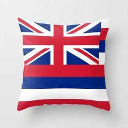 State flag of Hawaii Throw Pillow