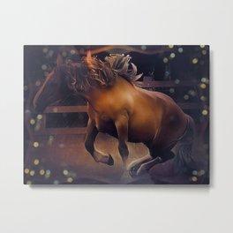 Postier Breton (horse) by GEN Z Metal Print