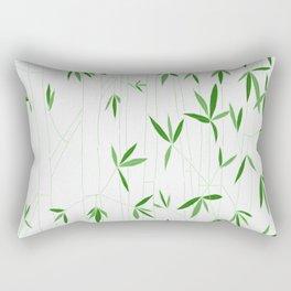 Bamboo Sketch in Green Rectangular Pillow