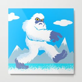 Cartoon yeti Metal Print