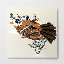 Brown Tanager Metal Print