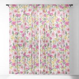 spring floral burst Sheer Curtain