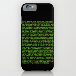 Fitter. Happier. More Productive. iPhone Case