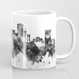Davao City Philippines Skyline BW Coffee Mug