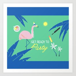 Ready to Party Art Print