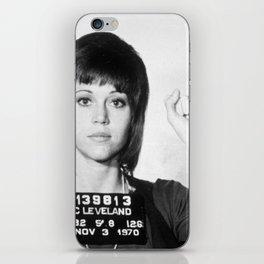 Jane Fonda Mug Shot Vertical iPhone Skin
