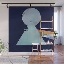 The Moon's Dark Side, prism, rainbow Wall Mural