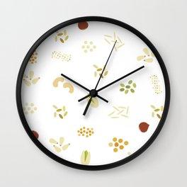 Nuts and grains Wall Clock