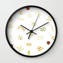 Nuts and grains Wall Clock