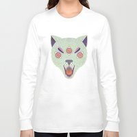cosmic Long Sleeve T-shirts featuring Cosmic Cat by LordofMasks