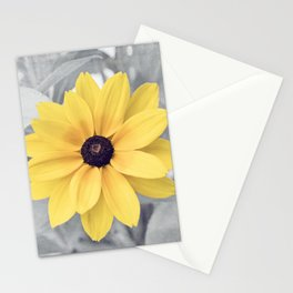 Yellow Grey Flower Photography, Yellow Gray Nature Floral Photography Stationery Cards