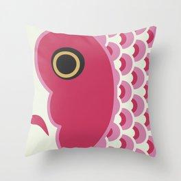 Koinobori | Pink Throw Pillow