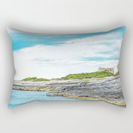 Beach in Salento Rectangular Pillow