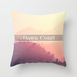 Dawn Court Throw Pillow