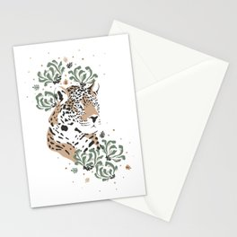 Flower and tiger Stationery Cards