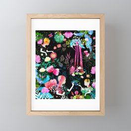 cosmic garden Framed Mini Art Print