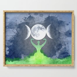 Mother Earth Goddess Moon Serving Tray