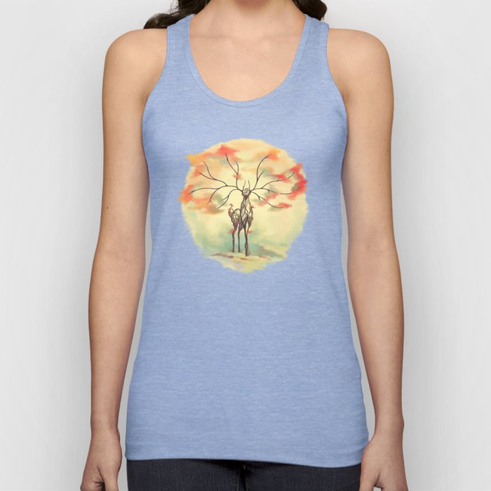 Essence of Nature - A Deer's Echo Unisex Tank Top