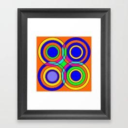 couleurs et cercles Framed Art Print