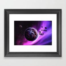 Deep Purple Space Framed Art Print