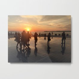 Sunset upon Zadar Metal Print