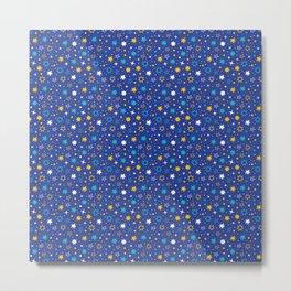 Sky is Blue Stars Pattern Metal Print