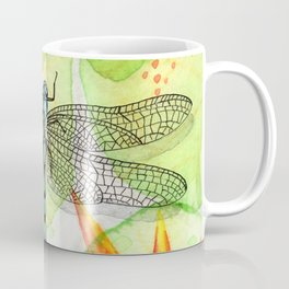 Dragonfly Lilly Art (Watercolor & Ink) Coffee Mug