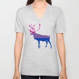 Bi Pride Caribou Unisex V-Neck