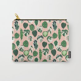 Variegated Plants - houseplants, plants, leaves, tropical, palm print, palms Carry-All Pouch