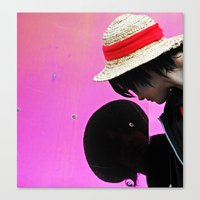 luffy Canvas Prints featuring luffy by Ariana Buck