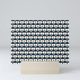 San Marino Love flagMotif Repeat Pattern design background  Mini Art Print