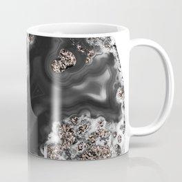 Black Malachite with Rose Gold Glitter #1 #shiny #gem #decor #art #society6 Coffee Mug