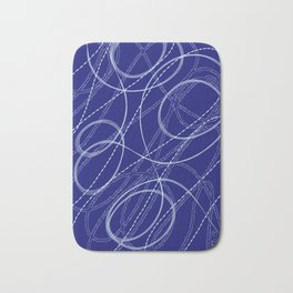 Blue Print Art Bath Mat