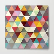 Color Triangle 3 Metal Print