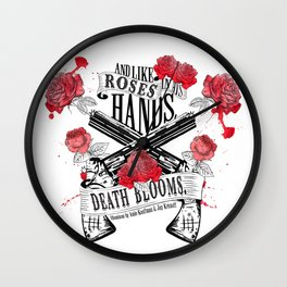 Illuminae - Death Blooms Wall Clock