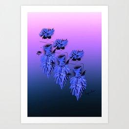 Ladies in blue Art Print