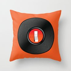 Off the Record Throw Pillow