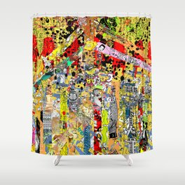 M E G A - two Shower Curtain