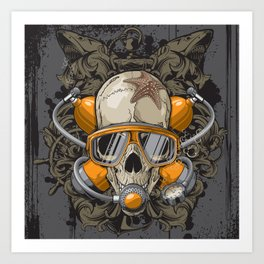Crânio Art Print