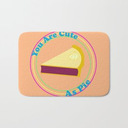 "Retro ""You Are Cute As Pie"" Bath Mat"