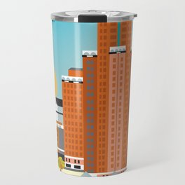 Milwaukee, Wisconsin - Skyline Illustration by Loose Petals Travel Mug