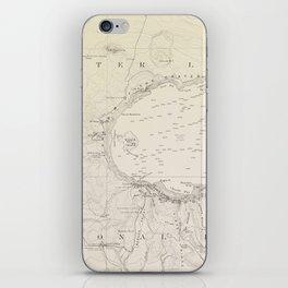 Crater Lake Vintage Map iPhone Skin
