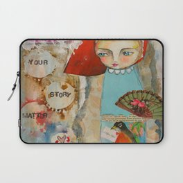 Your story matter - girl and bird inspirational art Laptop Sleeve