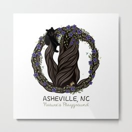 Asheville - Nature's Playground - AVL 5 Colored Metal Print