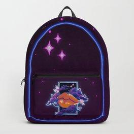 Neon Lip Gloss on Black Backpack